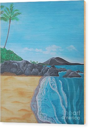 Steven Tyler In Hawaii Wood Print