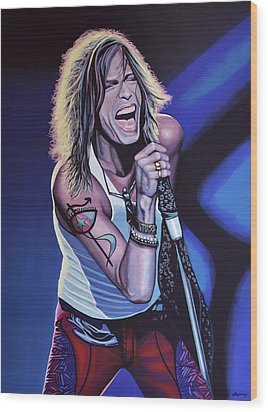 Steven Tyler 3 Wood Print by Paul Meijering