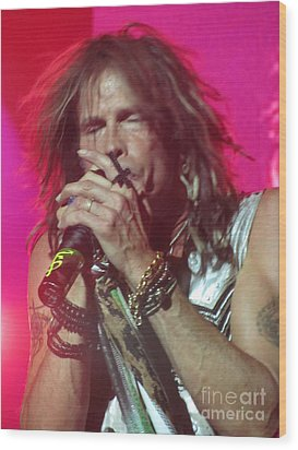 Steven Tyler Picture Wood Print