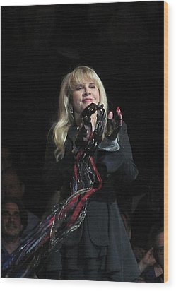 Stevie Nicks 2013 Wood Print by Melinda Saminski