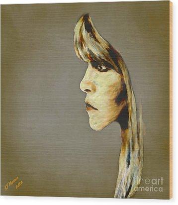Stevie Nicks Wood Print by Arne Hansen