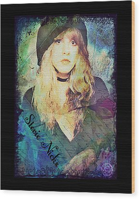 Stevie Nicks - Beret Wood Print