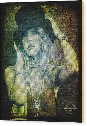 Stevie Nicks - Bohemian Wood Print