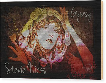 Stevie Nicks - Gypsy Wood Print