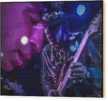 Stevie Ray Vaughan - Lenny  Wood Print by Glenn Feron