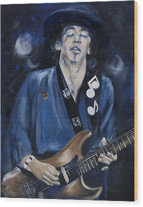 Stevie Ray Vaughn Wood Print