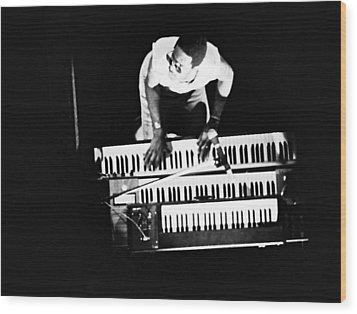 Stevie Wonder - Balconey View Wood Print