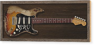 Stevie's Strat Wood Print by WB Johnston