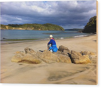 Stewart Island Golf Beach Wood Print by Venetia Featherstone-Witty