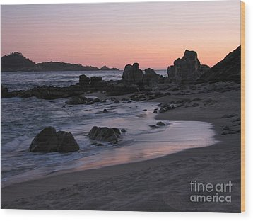Stewart's Cove At Sunset Wood Print