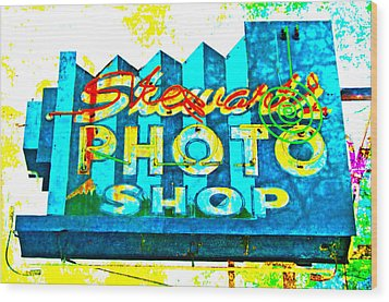 Stewart's Photo Shop Wood Print by Gail Lawnicki