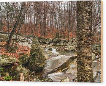 Stickney Brook 3 Wood Print by Jeremy Farnsworth