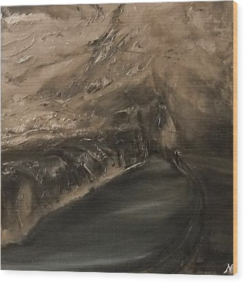Stiffe - Black Lake Room Wood Print by Nicla Rossini