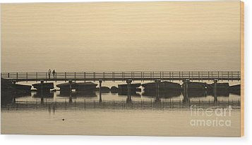 Wood Print featuring the photograph Still Lake by Clare Bevan