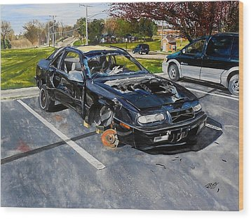 Still Life-1993 Chrysler Le Baron  Wood Print