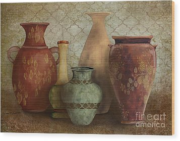 Still Life-a Wood Print by Jean Plout