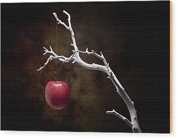 Still Life Apple Tree Wood Print