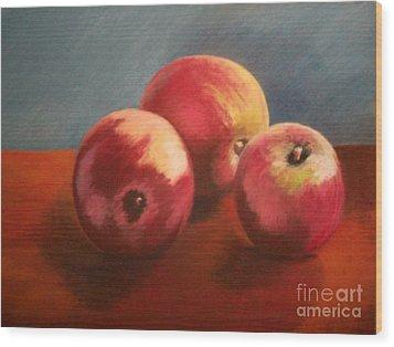 Still Life Apples Wood Print