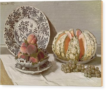 Still Life Wood Print by Claude Monet