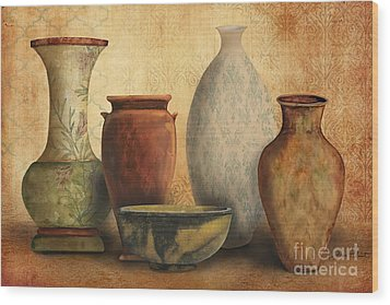 Still Life-d Wood Print by Jean Plout