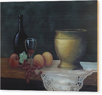 Wood Print featuring the painting Still Life by Debra Crank