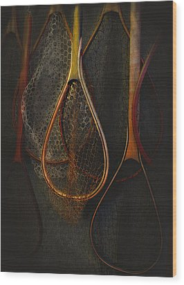 Still Life - Fishing Nets Wood Print by Jeff Burgess