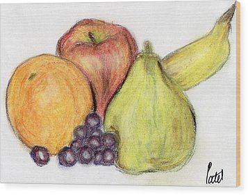 Still Life - Fruit Wood Print by Bav Patel