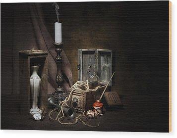 Still Life - General Vintage Items Wood Print by Tom Mc Nemar