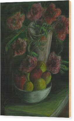 Still Life In A Dark Room Wood Print by Michael Anthony Edwards