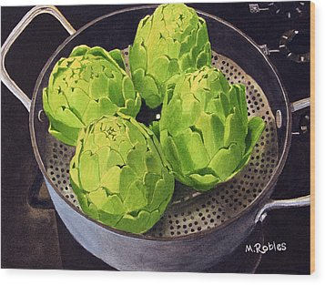 Still Life No. 6 Wood Print by Mike Robles