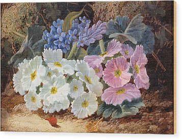Still Life Of Flowers Wood Print by Oliver Clare