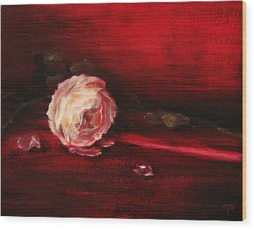 Still Life - Original Painting. Part Of A Diptych.  Wood Print by Tanya Byrd