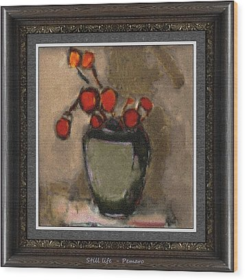 Wood Print featuring the painting Still Life Stl2 by Pemaro