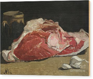 Still Life The Joint Of Meat Wood Print by Claude Monet