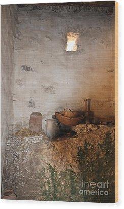 Still Life With Basket Wood Print by Elizabeth Carr
