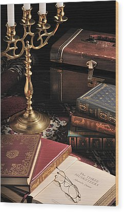 Still Life With Books Wood Print by Krasimir Tolev