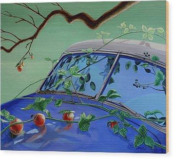 Still Life With Car Wood Print