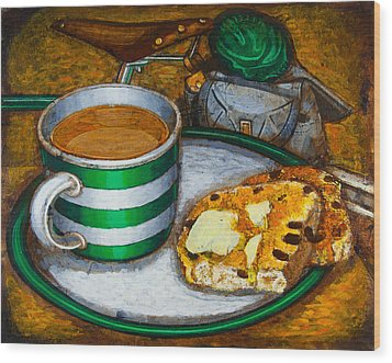 Still Life With Green Touring Bike Wood Print by Mark Jones