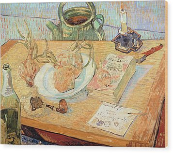 Still Life With Onions Wood Print by Vincent van Gogh