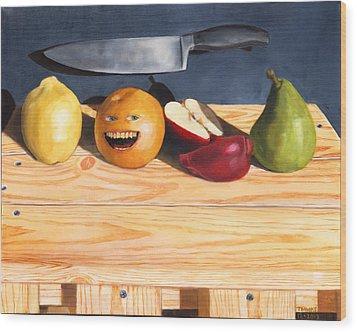 Still Life With Orange No. 2 Wood Print