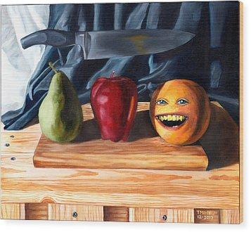 Still Life With Orange No. 3 Wood Print