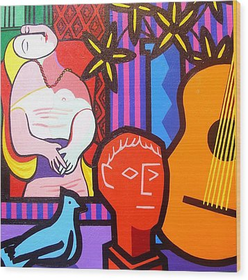 Still Life With Picasso's Dream Wood Print by John  Nolan