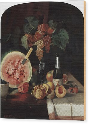 Still Life With Watermelon Wood Print by William Merritt Chase