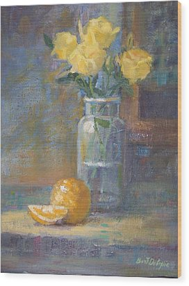 Still Life. Yellow Roses Wood Print