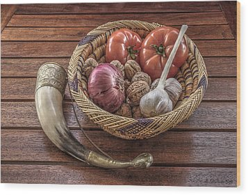 Still Life With A Georgian Horn Wood Print by Julis Simo
