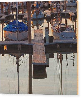 Still Sailing Wood Print by Steven Milner
