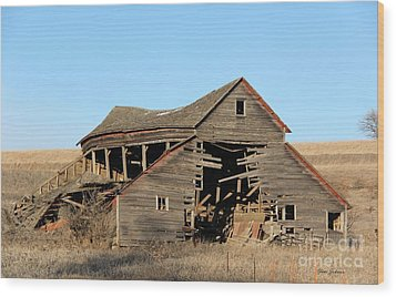Still Standing But Not Too Long Wood Print by Yumi Johnson