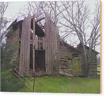 Wood Print featuring the photograph Still Standing by Lew Davis