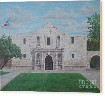 Still Standing Strong - The Alamo Wood Print by Terrie Leyton
