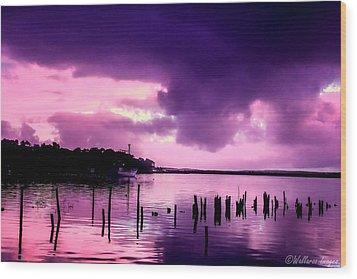 Still Water Dusk Wood Print by Wallaroo Images